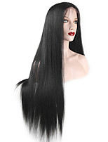EVAWIGS Straight Lace Front Wig Natural Looking Brazilian Human Hair Wigs 130% Density  Medium Brown Lace 16-26 Inch