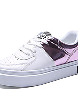 Women's Shoes PU Spring / Fall Comfort / Flats Sneakers Outdoor / Athletic / Black / Blue / Pink Walking