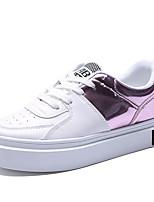 Черный / Синий / Розовый-Женский-Для прогулок / На каждый день / Для занятий спортом-Полиуретан-На плоской подошве-Удобная обувь / На