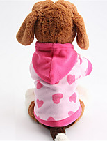 Dog Hoodie Blue / Pink Winter / Spring/Fall Stars Fashion / Casual/Daily Dog Clothes / Dog Clothing-Other