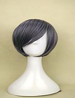 sin tapa pelucas grises populares de la peluca del pelo recto corto sintético de la peluca del traje de la mujer