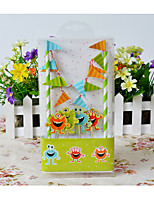 Cake Topper Non-personalized Funny & Reluctant Card Paper Birthday  Rustic Theme 1Pieces Gift Box