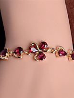 Trendy New Women/Lady's Fashion 18k Gold Plated Leaf 5 Colors CZ Stones Bracelets & Bangles Jewelry