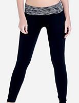 Yoga-Hose Hosen/Regenhose Atmungsaktiv / Videokompression Normal Dehnbar Sportbekleidung Schwarz Damen Sport Yoga