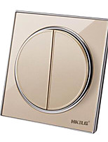 Two Switches  Single Control  Round Wall Switch(Mounting Hole Distance:60 (mm))