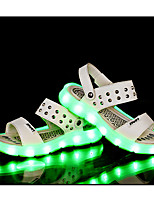LED's Shoes Girl's Sandals Summer Sandals PU Casual Flat Heel LED Black / White / Gold / Black and Red Others
