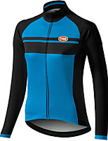 Sports Cycling Jersey Women's Long Sleeve Bike Breathable / Front Zipper / Wearable / Compression / Ultra Light Fabric TopsTerylene /