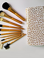 10pcs Makeup Brushes Set Goat Hair Professional / Full Coverage Wood