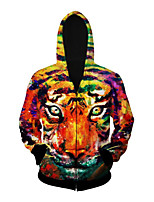 3D Hoodie Long Sleeve Inspired by Tiger Anime Cosplay Costumes Cosplay Tops Bottoms Cosplay Hoodies Halloween