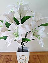 Hi-Q 1Pc Decorative Flower Lilies Flower Wedding Home Table Decoration Artificial Flowers