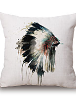 Cotton/Linen Pillow Cover,Textured / Animal Print / Graphic Prints Accent/Decorative / Modern/Contemporary / Casual