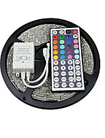 ZDM® 5M 150X5050 SMD RGB LED Strip Light  IP20 with 44Key Remote Controller (DC12V)