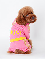 honden Kleding / Kleding Zwart / Roze Winter Letter & Nummer Houd Warm, Dog Clothes / Dog Clothing-Other