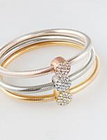 Bracelet Charm Bracelet Alloy Circle Fashion Jewelry Gift Gold / Silver / Rose Gold,1set