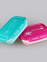 Yooyee 5 Compartment Leak-Proof Plastic Lunch Box with Spoon