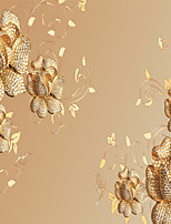 JAMMORY 3D Wallpaper For Home Contemporary Wall Covering Canvas Material Gold Diamond Flower3XL(14'7''*9'2'')