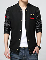 2016 new young men jacket slim male Korean spring thin unlined Fall Coat Size Mens tide