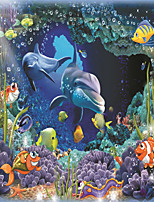 JAMMORY Wallpaper For Home Wall Covering Canvas Adhesive required Mural Cartoon Underwater World3XL(14'7''*9'2'')