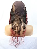 New 360 Frontal Virgin Brazilian Hair Ombre 99J Natural Wave Style Middle Part