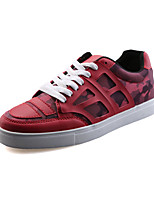 Men's Sneakers Spring / Fall Styles / Round Toe PU Casual Flat Heel Others Black / Blue / Red Walking