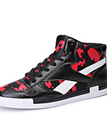 Men's Shoes PU Casual Sneaker Flat Heel Lace-up White / Black and Red / Black and White EU39-43