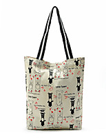 Cute Korean Bear Canvas Shopping Bag Tote Practical Supermarket Bags