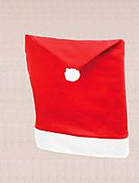 1pc universal de navidad santa silla gorra roja de la cena mesa de comedor cubierta decoración hogar