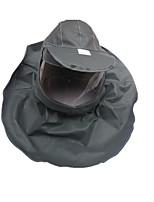 ácido respiradores máscara protectora campana de polvo de pintura del casquillo de ácido salpicaduras máscaras grises transparentes