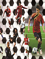 JAMMORY Wallpaper For Home Wall Covering Canvas Adhesive required Mural Football Match3XL(14'7''*9'2'')