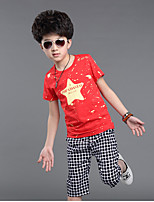 Boy's Casual/Daily Print Clothing Set,Cotton Spring / Fall Blue / Red / White