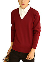 The new 2016 new men men's fashion color sweater slim long sleeved SWEATER MENS.