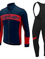 KEIYUEM®Spring/Summer/Autumn Long Sleeve Cycling Jersey+long Bib Tights Ropa Ciclismo Cycling Clothing Suits #L73