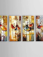 Large Size Hand-Painted Ballet Dancer Canvas Painting Art Oil Painting on Canvas 4pcs/set With Frame Ready To Hang
