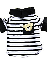 Cat / Dog Shirt / T-Shirt Black / White Summer / Spring/Fall Stripe Holiday, Dog Clothes / Dog Clothing