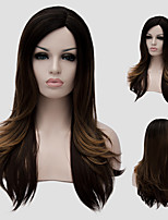 Brown long hair and straight hair in hot new fashion lady wig Synthetic Wigs