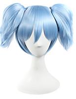 Perruques de Cosplay Assassinat de classe Cosplay Bleu Court Anime Perruques de Cosplay 25 CM Fibre synthétique Masculin