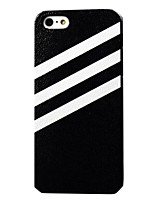 The White Stripes Pattern Embossment PC Hard Case for iPhone 5/5S