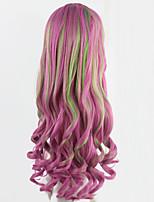 mes petites perruques poney cosplay animé rose perruques frisées longs ondulés fille perruques synthétiques 70cm peruca partie festive