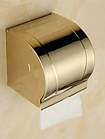 Toilet Paper Holder / Gold / Wall Mounted /12*10.5*12.8cm /Stainless Steel /Contemporary /12cm 10.5cm 0.44