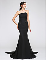 TS Couture® Formal Evening Dress Trumpet / Mermaid Strapless Watteau Train Chiffon with Beading