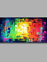 Stretched (Ready to hang) Hand-Painted Oil Painting 100cmx50cm Canvas Wall Art Modern Abstract Green Red