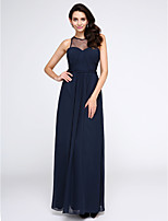 TS Couture® Formal Evening Dress Sheath / Column Jewel Ankle-length Chiffon with Side Draping