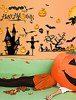 Happy Halloween Pumpkin Wall Stickers Creative Fashion Living Room Wall Decals