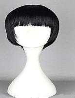 longues droites pleines frange cheveux perruque cosplay perruques de style bobo de la mode fille mignonne pour femme noire