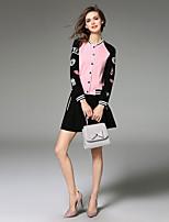 JOJO HANS  Women's Going out Cute Spring / Winter Set Skirt,Solid Round Neck Long Sleeve /Set