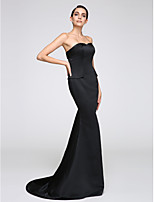 TS Couture® Formal Evening Dress Trumpet / Mermaid Strapless Sweep / Brush Train Jersey with Pleats