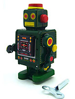 Novelty Toy  Puzzle Toy  Wind-up Toy Novelty Toy  Warrior  Robot Metal Green  Orange For Kids