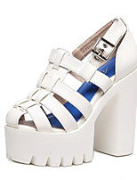 Women's Sandals Summer Comfort Leatherette Outdoor Chunky Heel Others Black / White Others