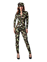 Cosplay Costumes Soldier/Warrior Movie Cosplay Green Solid Dress / Hat Halloween / Christmas / New Year Female Polyester