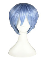 Cosplay Wigs Kuroko no Basket Tetsuya Kuroko Blue Short Anime Cosplay Wigs 32 CM Heat Resistant Fiber Male / Female